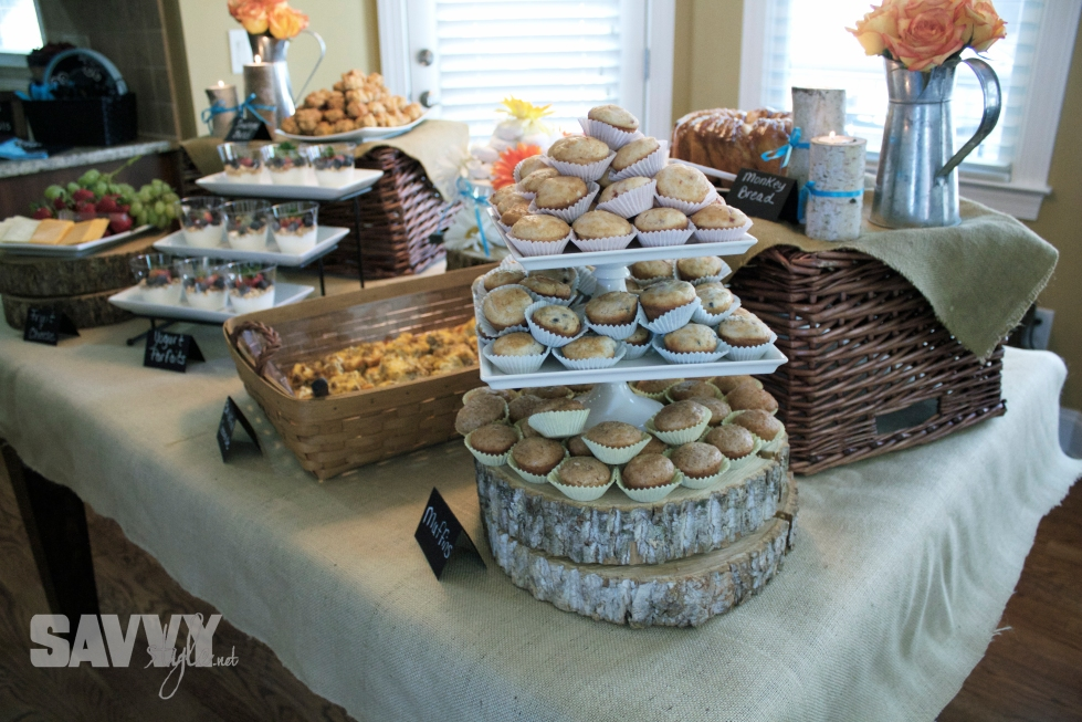 bridal-shower-food-display