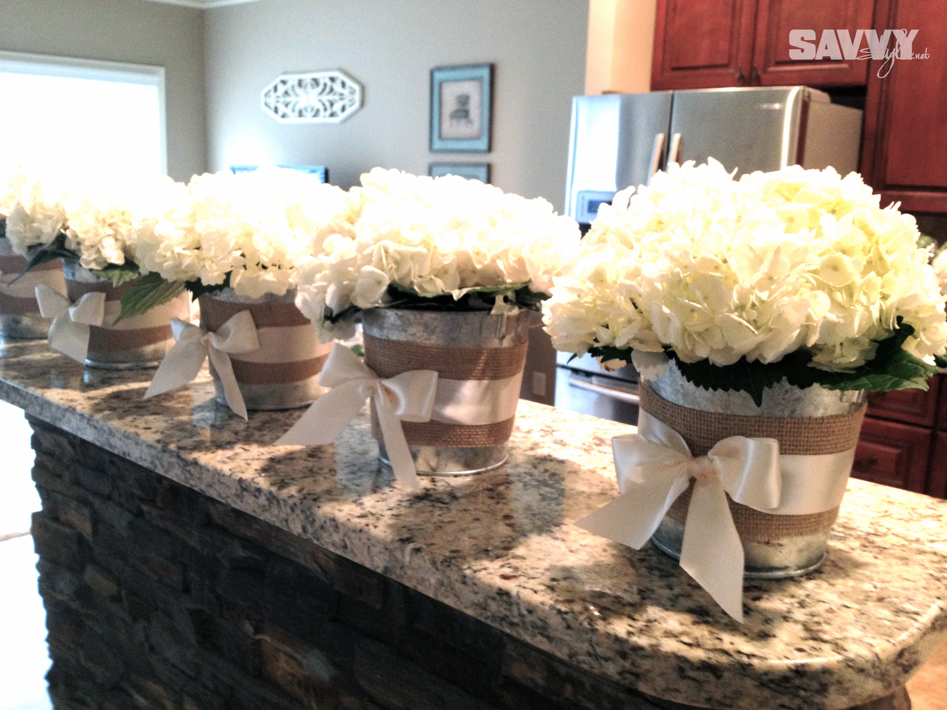 Real weddings simply sweet hydrangeas savvy style