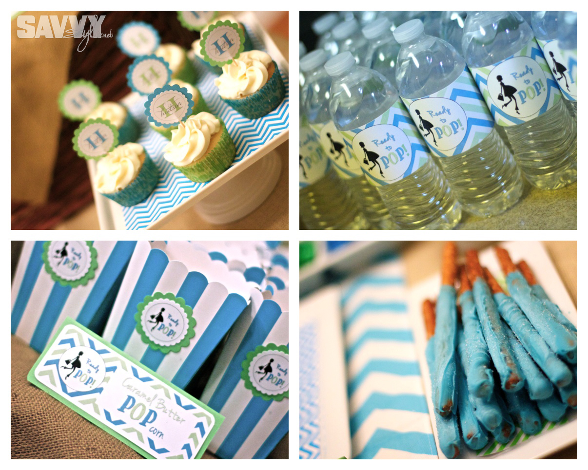 Ready to pop baby shower savvy style for Baby shower decoration free
