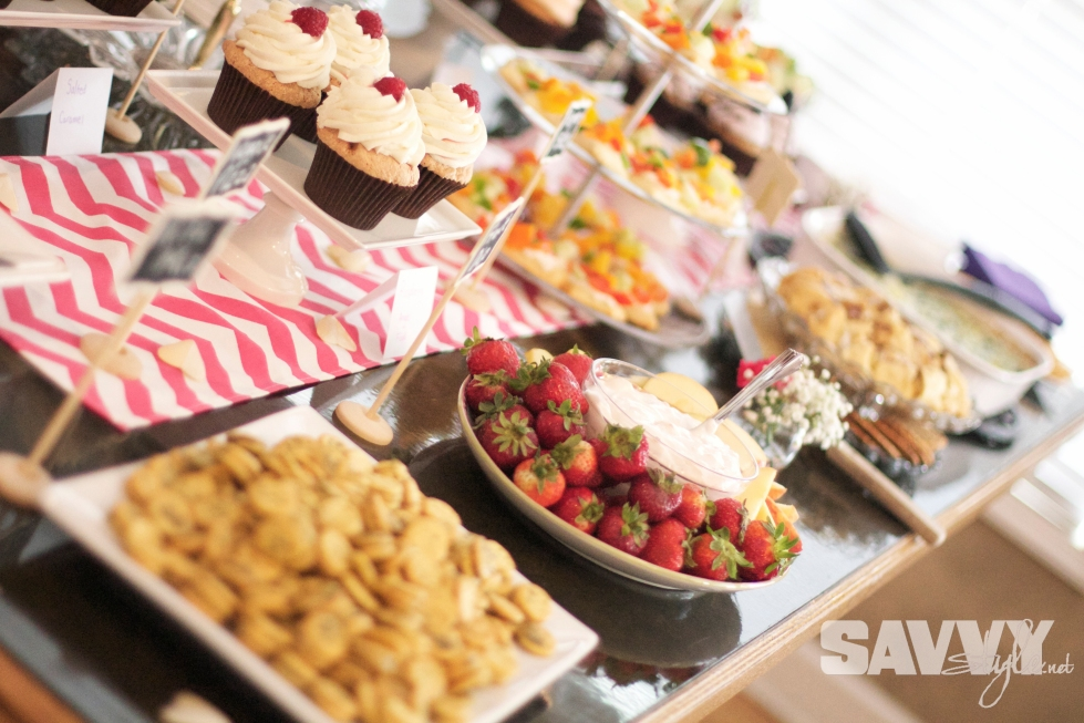 bridal-shower-food-display-summer